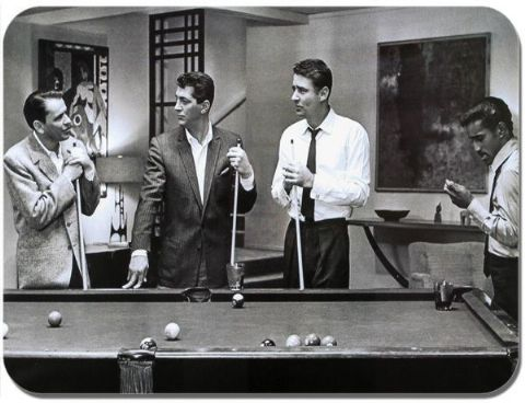 The Rat Pack Mouse Mat. Singers Film Star Pool Player High Quality Mouse pad